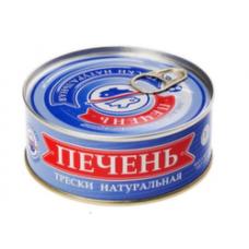 Печень трески по мурмански премиум 190 гр ж/б