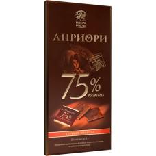 Шоколад  априори горький 75% 100гр