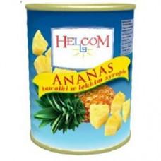 Ананас в сиропе кусочки Helcom 565 гр ж/б