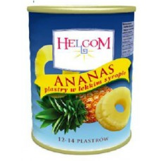 Ананас в сиропе кольца Helcom 565 гр ж/б