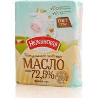 Масло сливочное крестьянское нежинское 180г 72,5%