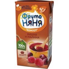 0,2Л КОМПОТ ВИШНЯ/МАЛИНА ФН