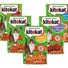 Корм для кошек китекат 85гр ассортимент