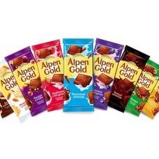 Шоколад альпен голд 85г ассортимент