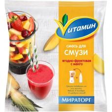 Смесь смузи ягодно-фруктовая с манго 300г мираторг