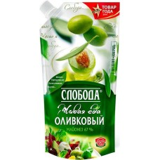Майонез слобода оливковый  67% 400мл с дозатором