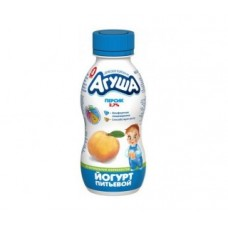 Йогурт питьевой агуша персик 2,7%, 200г