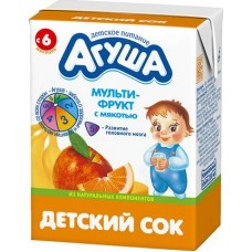 0,2л сок мультифрукт агуша