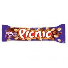 Шоколадный батончик picnic с арахисом и карамелью, 38г