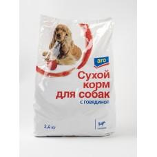 2,4кг сух корм д/соб говяд aro