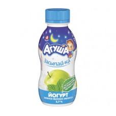 Йогурт питьевой агуша засыпай-ка зеленое яблоко-мелисса 2,7%, 200г