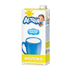 Молоко агуша ультрапастеризованное 3,2%, 925г