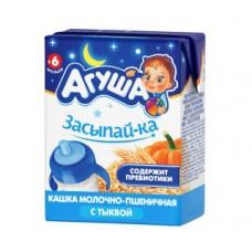 Каша детская агуша засыпай-ка молочно-пшеничная с тыквой с 6 месяцев, 200мл