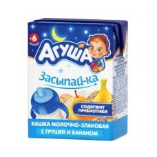 Каша детская агуша молочно-злаковая с грушей и бананом с 6 месяцев, 200мл
